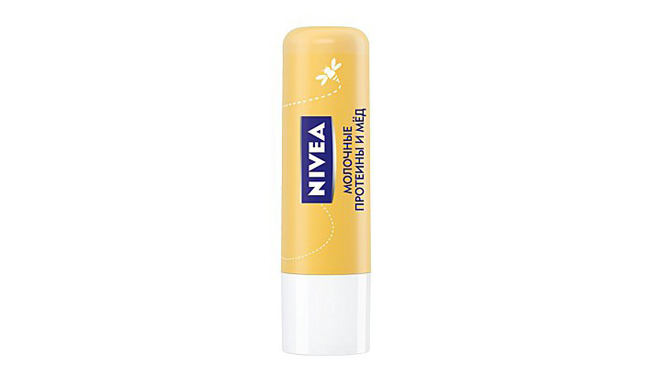 Бальзам для губ Pure&Natural Молочные протеины и мед, NIVEA, 150 рублей