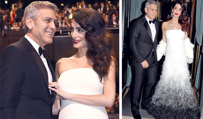 Навручении премии «Сезар» Амаль Клуни показала округлившийся живот