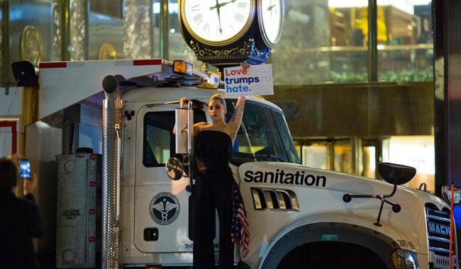Леди Гага устроила шокирующий пикет убашни Трампа вНью-Йорке